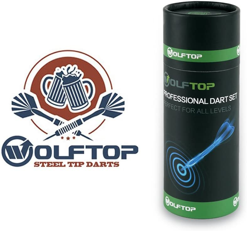 Wolftop 12 Pack Steel Tip Darts 23 Grams With Aluminum Shafts and 4 Style Flight for sale online