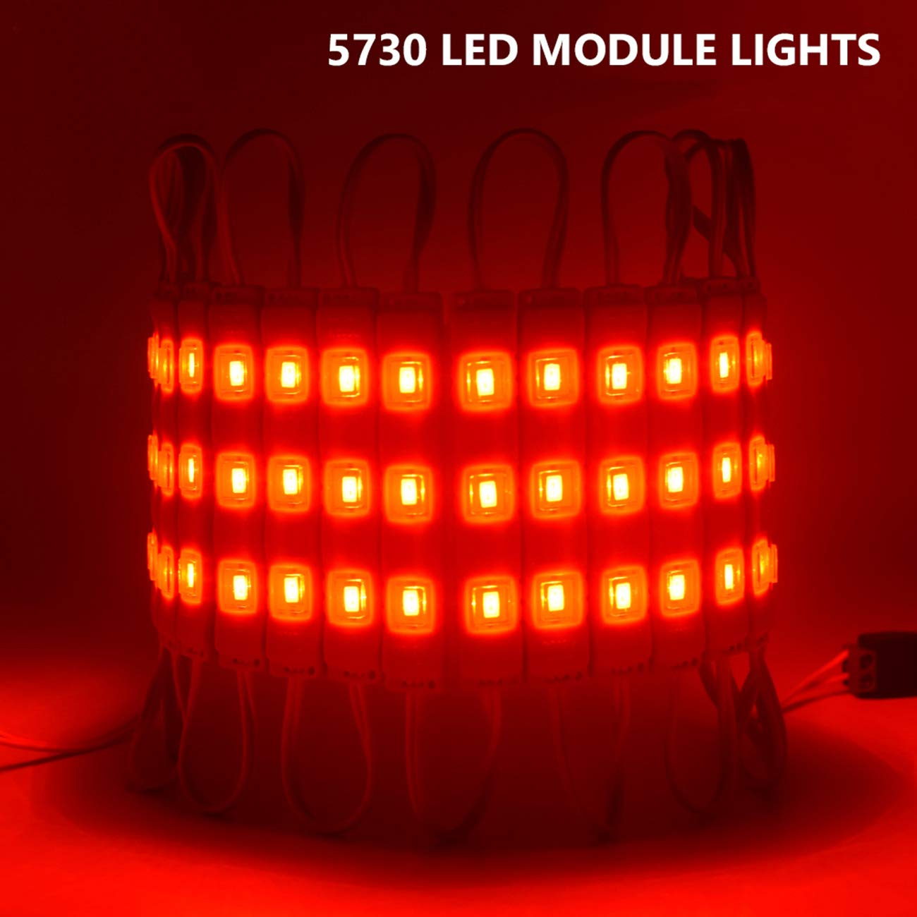 Red Module Lights, EAGWELL 20 Ft Module Lights LED Signs Light 40 Pieces 5730 LED Light Module, 2 Set 5730 SMD 120 LED Module Store Front Window Sign Strip Light
