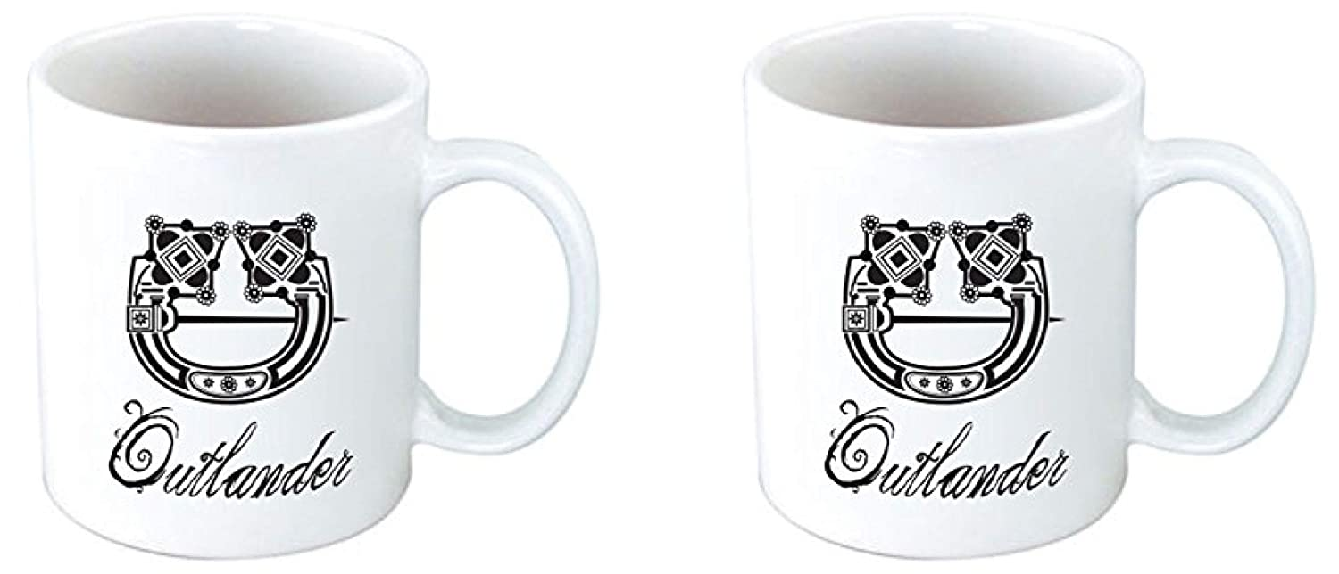 A Breath of Snow and Ashes SET OF TWO Outlander Ceramic Mug Space Connection SYNCHKG129846