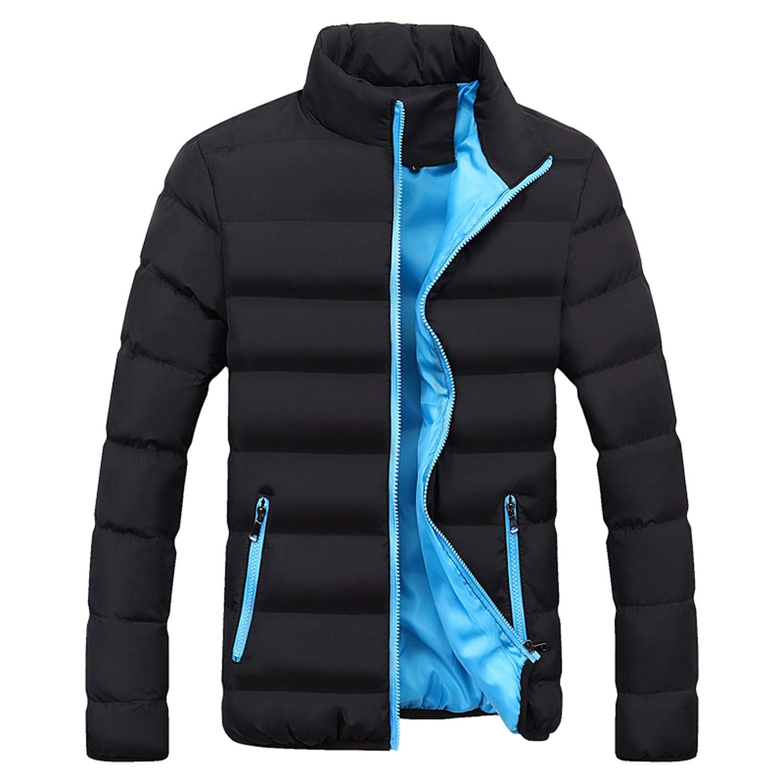 Love essentials Fashion coat Mens Windbreakers Solid Winter Jacket Men Casual Parkas Men Thermal Coats