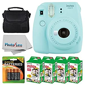 Fujifilm instax Mini 9 Instant Film Camera + Fujifilm Instax Mini Twin Pack Instant Film (80 Shots) + Camera Case + AA Batteries + Accessory Bundle