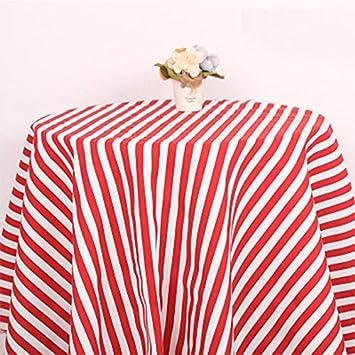 Amazon.com: Tela de lona de algodón con estampado a rayas de ...