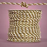 Gold and White Royal Twisted Cord, 3mm X 25yd