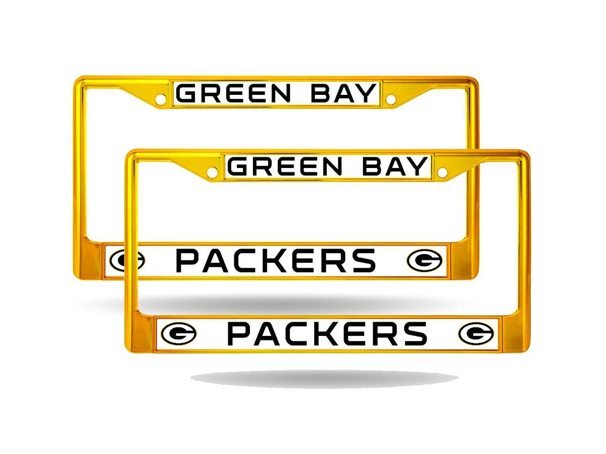 Green Bay Packers Gold Gelb Metall Chrom lackiert (2) Nummernschild ...