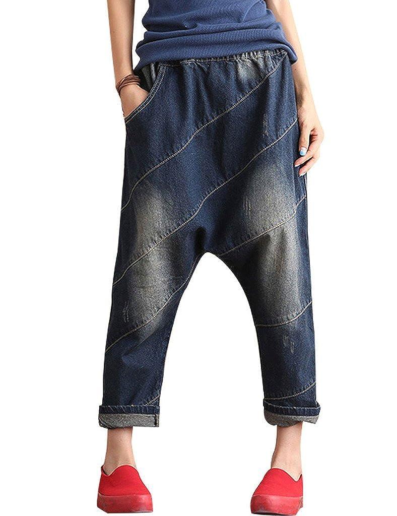 Youlee Mujer Cintura Alta Entrepierna Caída Pantalones Fit EU 34-44
