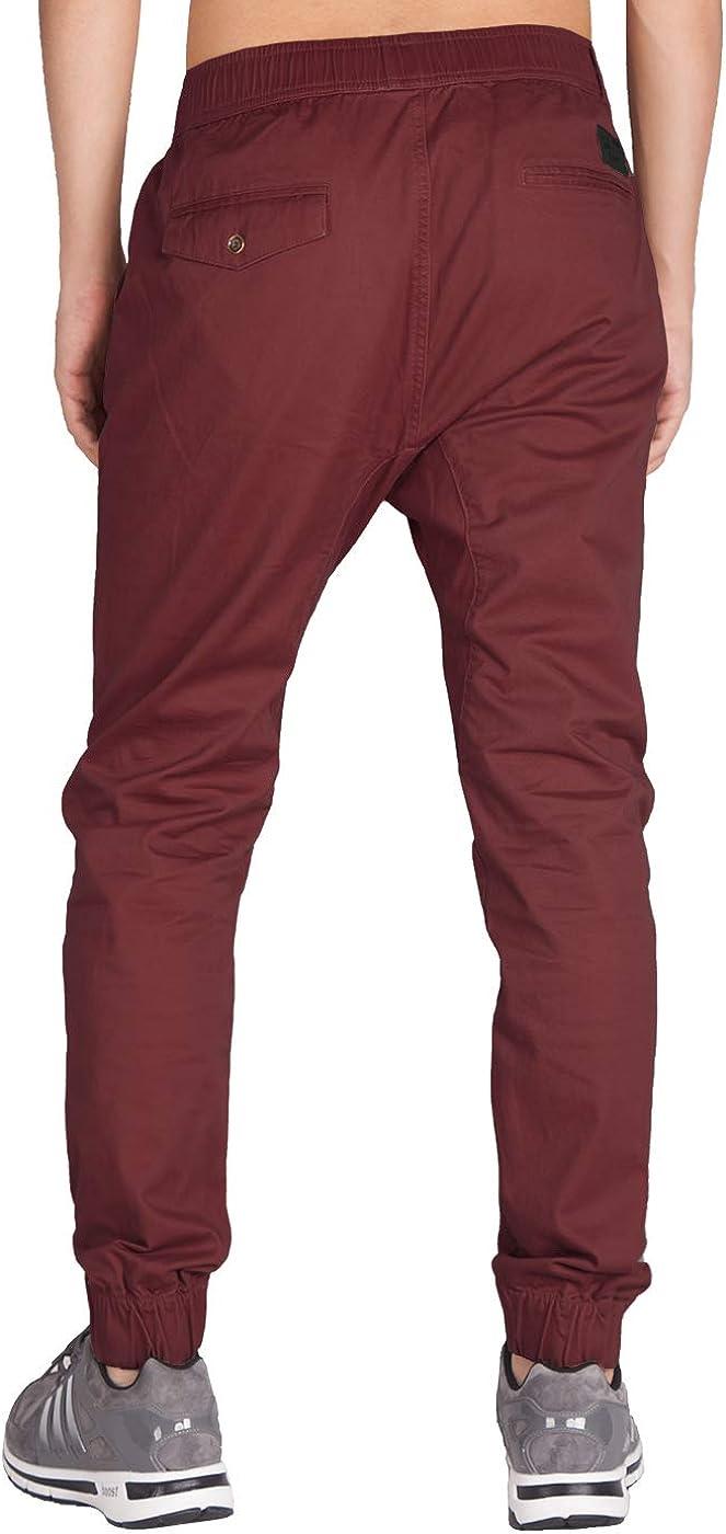Italy Morn Uomo Pantaloni pantaloni Chinos Kinny cachi con cavallo basso mutanda casuale del Harem pantaloni weatPantaloni porta jogging
