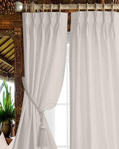 Magic Drapes Triple Pinch Pleat Blackout Curtains 100 Polyester Thermal Insulated Room Darkening Curtains Window Panels