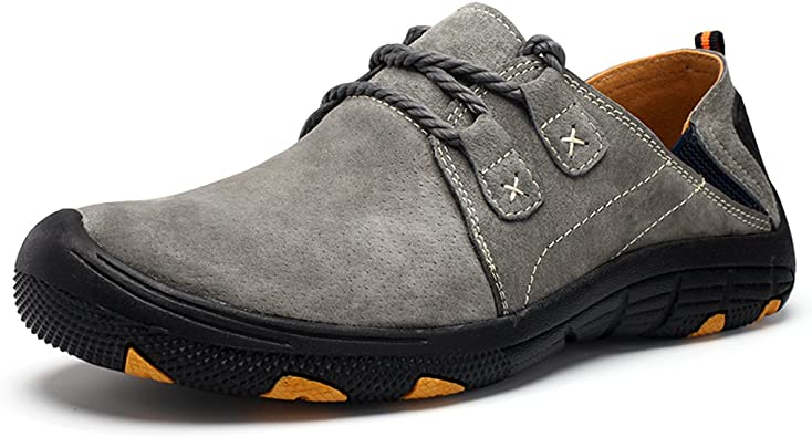 TALLA 44 EU. Zapatos con Cordones Derby para Hombre, Gracosy Botas de Deporte Invierno del Ante de los Hombres Zapatos del Desierto Botas de Moda con Cordones de Baja