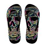 Mens Flash Skull Pattern Casual Unisex Soft Flippers Flip Flops