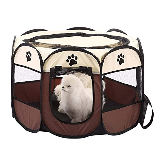 Cacoffay Tela Plegable Gato Perro Parque Infantil Hermosa en ...