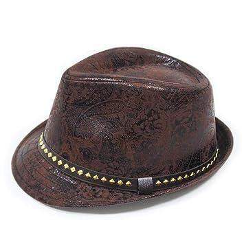 SHOPZZ Gorra De Jazz Impreso Jazz Hat Cinturón Hebilla Cuadrada ...