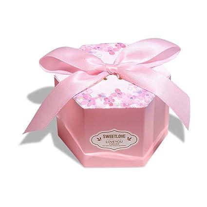 Amazon Com Zhi Jin 30pcs Hexagonal Wedding Candy Boxes Flowers