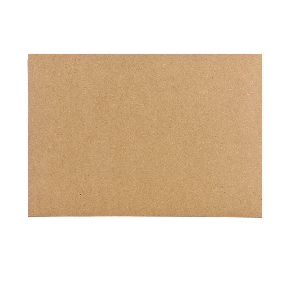formato A4 documenti Cartella portadocumenti in carta kraft per ufficio casa documenti e cartelline A4 Hellbraun 1 FolderSys 10 pezzi scuola