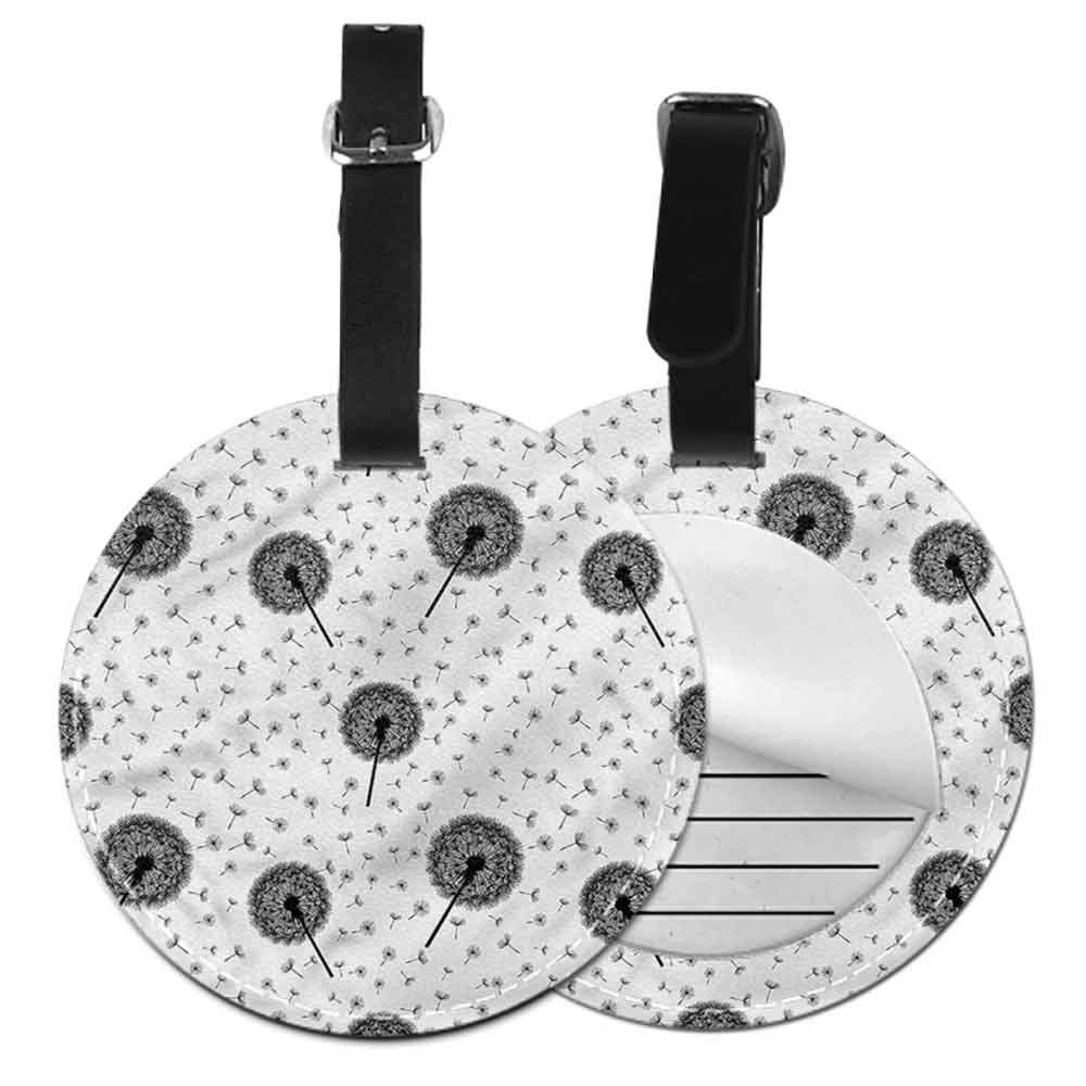 Tags Portable Label Black and White,Squares Hexagons Good-looking
