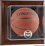 Colorado State Rams Brown Framed Wall-Mountable Basketball Display Case - Fanatics Authentic Certified