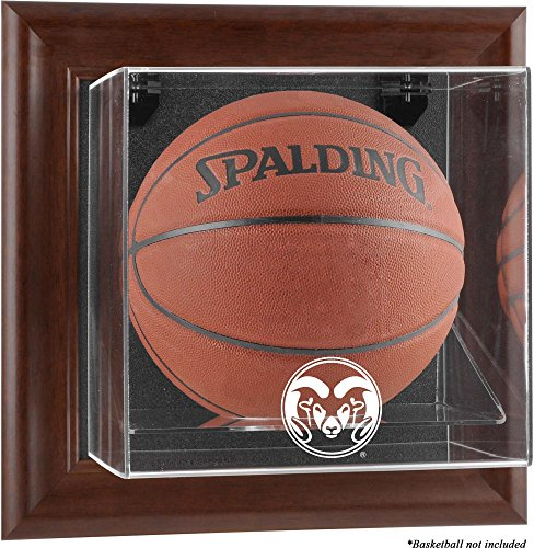 Colorado State Rams Brown Framed Wall-Mountable Basketball Display Case - Fanatics Authentic Certified by Sports Memorabilia