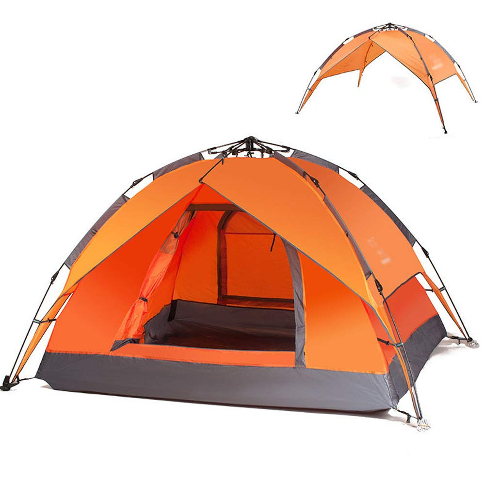 LIBWX Automatic Pop Up Tent Instant Camping Tent,Camping Automatic Waterproof Sun Protection, UV Protection Tents 2-3 Person,Orange by LIBWX