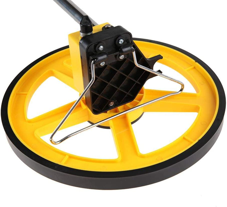 Distance Measuring Wheel,Foldable Display Digital Collapsible Measuring Wheel with Carry Bag and Steel Measure Tape,Measure Up To 9999.9ft