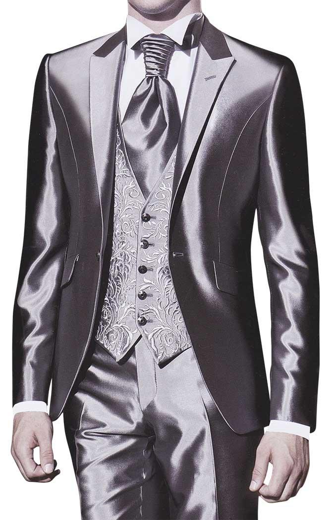 INMONARCH Mens Stunning Wedding 5 pc Tuxedo TX277 42R Sharkskin