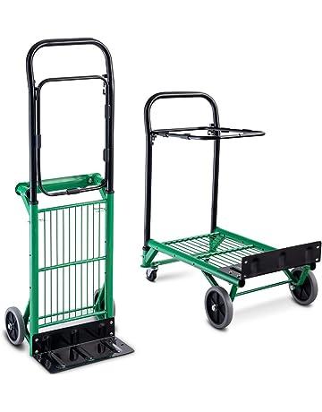 COSTWAY Carretilla de Mano Plegable con Ruedas Carro de Plataforma Carrito Transporte Carga Hasta 90 kg