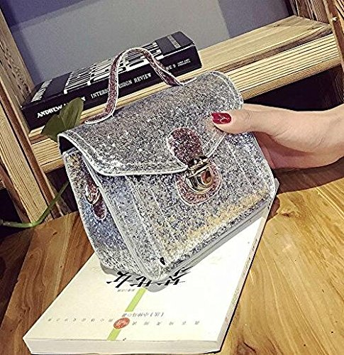 Bag Sequined Handbag Chain Women Silver Messenger Bag Crossbody Mindruer Shoulder xUP4nqwqC