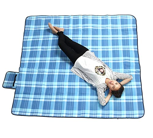 Extra Large Outdoor Picnic Blanket with Waterproof Backing - 200 x 200 cm Beach Rug Mat - Folding and Portable Perfect for Beach, Travel, Festival, Camping …