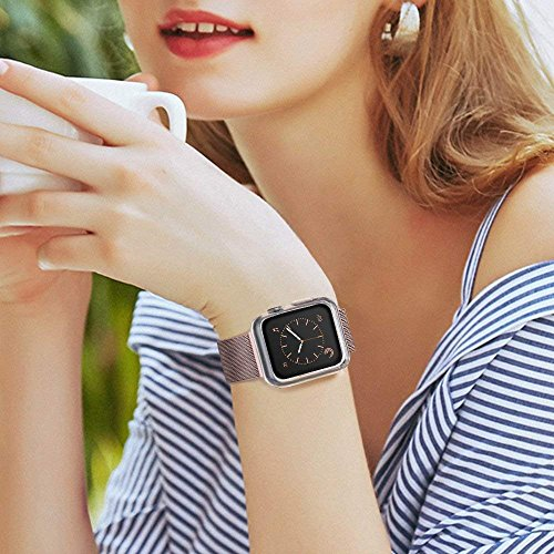 Marge Plus【2 Pack】 Compatible with Apple Watch Screen Protector with Case 42mm, Soft TPU All-Around Ultra-Thin Clear Cover Compatible with Apple Watch Case Series 3, Series 2