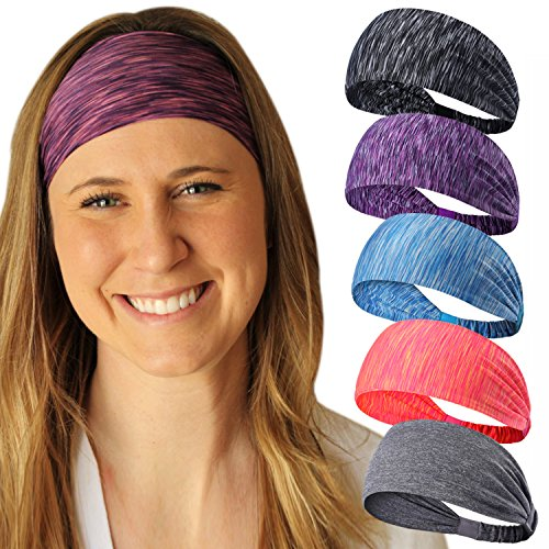 Calbeing Hair Bands for Womens Hair Wicking Stretchy Head Wrap Ideas Headscarf