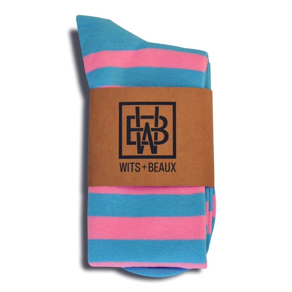 Wits + Beaux Men's Dress Socks (Over-the-Calf) Fun, Colorful Cotton Polyester SS-So6605