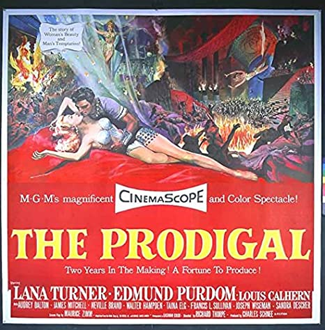 The prodigal Lana Turner vintage movie poster print
