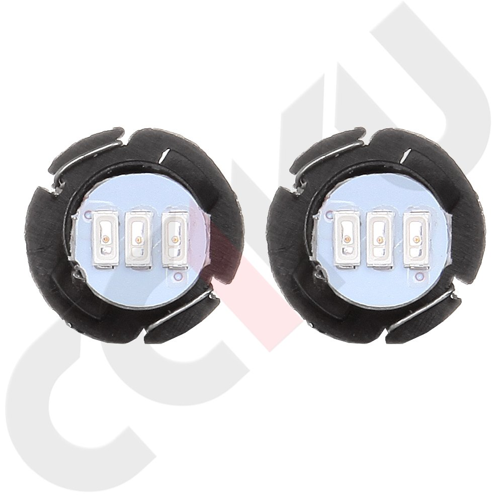 warm white cciyu 10 Pack T5 5050 SMD Neo Wedge LED Light Climate Heater Control Lamp Bulbs
