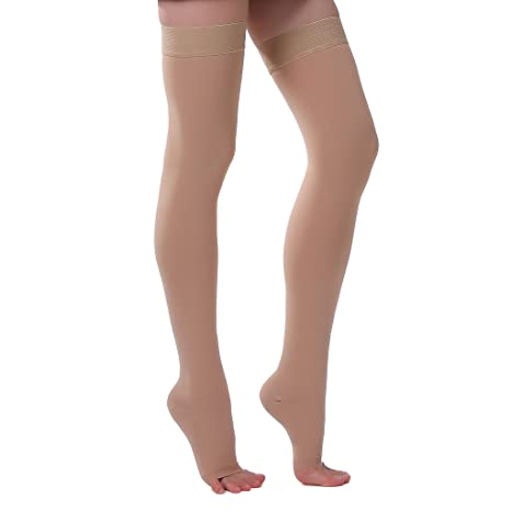 0886a23ee8 Buy ONTEX Cotton Compression Stockings Thigh Length for Varicose Veins,  X-Large (Beige) Online at Low Prices in India - Amazon.in