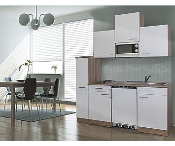respekta Single Küche Küchenzeile Küchenblock 180 cm Eiche sägerau ...
