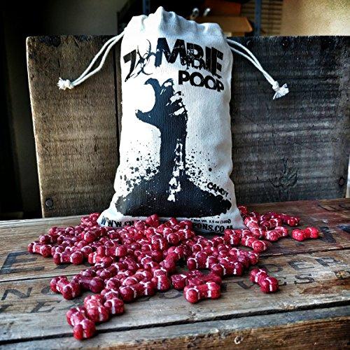 Zombie Poop - Candy Bones in Vintage Cotton Sack