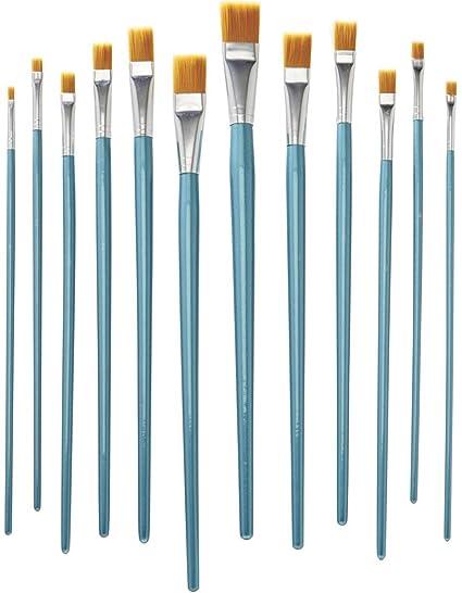 crelando® alta calidad Nylon Artistas Pincel Set, Pinsellänge zwischen ca. 27 und 35