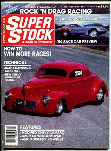 Super Stock & Drag Illustrated 4/1986-1940 Willys-Buick Regal-NHRA-AHRA-VG