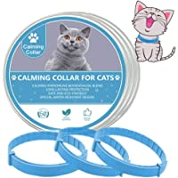 LeQuiven Cat Calming Collars, 3 Pack Calming Collar for Cats, Kitten Pheromone Anti-Anxiety Calm Collars, Adjustable…
