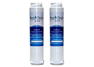 GE GXRLQR Compatible By Best Choice Water Filters Certified Refrigerator Replacement Cartridge Fits GXRLQ, GX1S50, GXSTQ, GXRLOR SmartWater Twist and Lock Inline Filter (2-Pack)