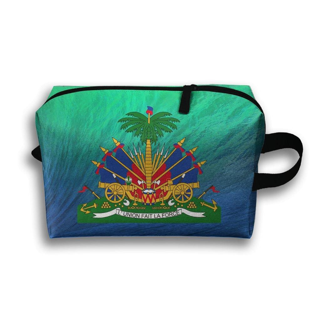 Coat Of Arms Of Haiti Travel Bag Multifunction Portable Toiletry Bag Organizer Storage