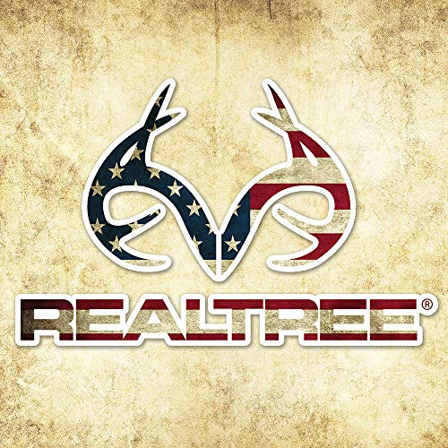 Realtree Camo Graphics RT49FLAG Realtree Antler Logo - Die Cut Decal 4in x 6in American Flag Camo Graphics Wrap