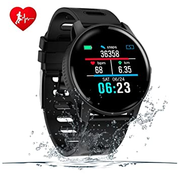 SENBONO Fitness Tracker Bluetooth Smart Watch, Activity Tracker with Heart Rate Monitor for Android/iOS, IP68 Waterproof Smart Watch Bracelet ...