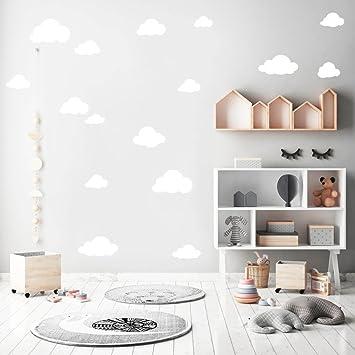 Wandaufkleberset Mit 20 Wolken Wandtattoo Wandsticker Sticker