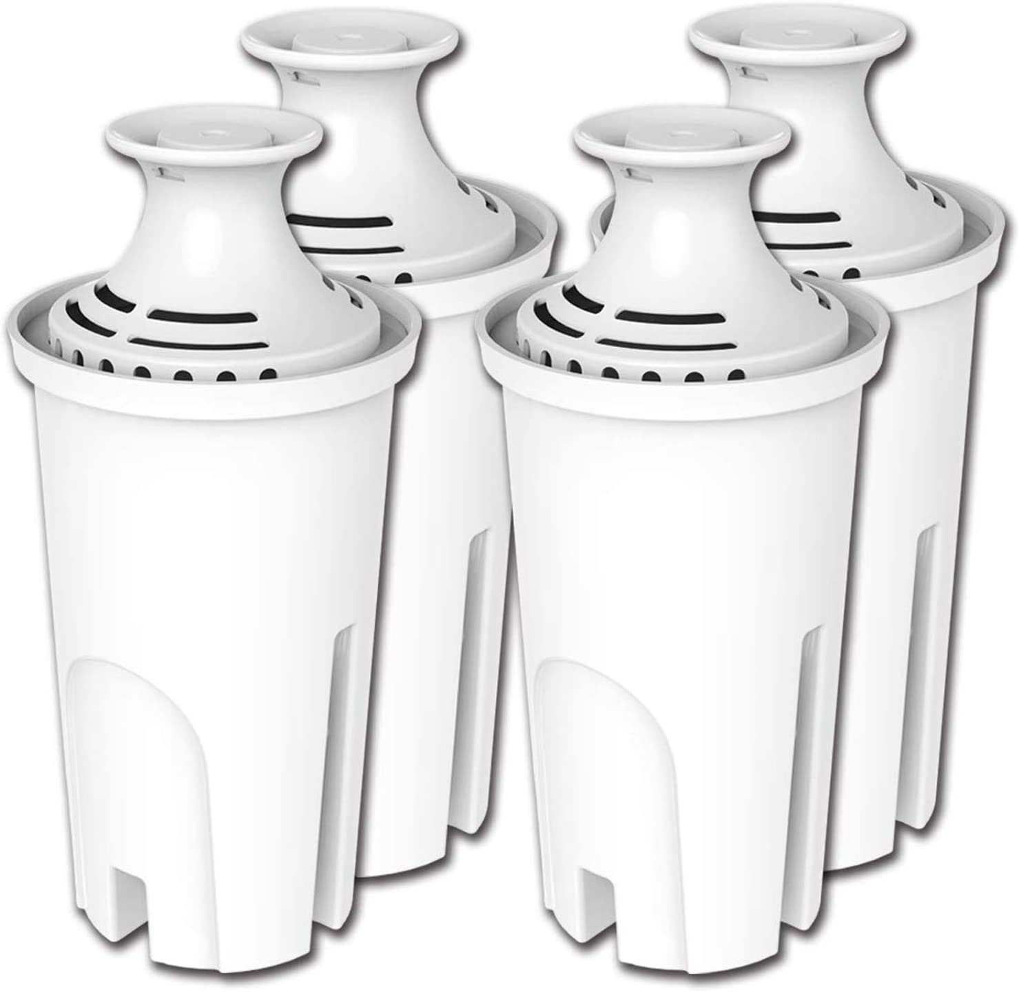 PUREUP 6 Pack Standard Water Filter Compatible with Brita Pitchers, Sispensers, Premium Pitcher Replacement Filters