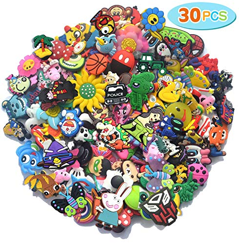 30,50,100pcs Random PVC Different Shoe Charms Fits for croc and Shoes & Bracelet Wristband from SAY OUT