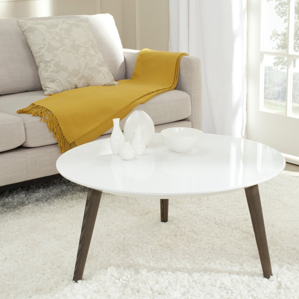 Safavieh Home Collection Josiah White and Dark Brown Accent Table by Safavieh