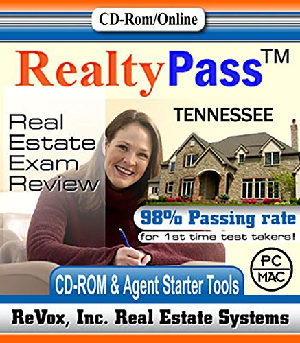 2018 Tennessee PSI Realty Pass Real Estate Exam Prep Study Guide Questions and Answers Interactive Software