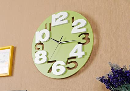 Znzbzt The 12-inch clocks wall clock living room stylish and innovative 3D digital mute