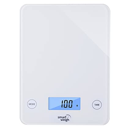 amazon com smart weigh digital glass top kitchen and food scale 5