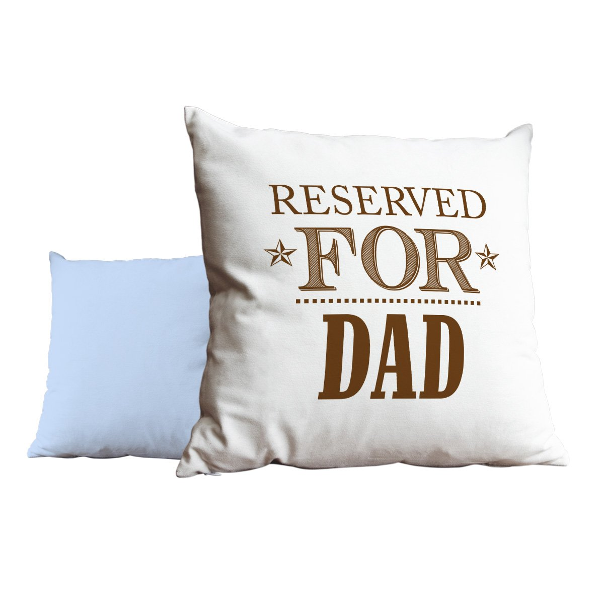 Duke Gifts Reserved for Dad Brown Blue Cushion Scatter Pillow 046