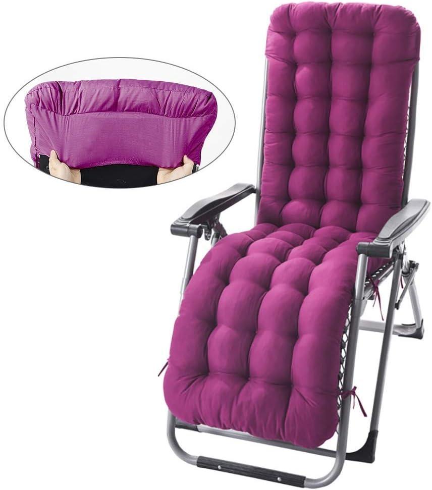 Skyout Cojines para Silla de salón, Cojín colchón Colchoneta para Tumbona de jardín Portable Acolchado en Patio reclinable alisador 155 * 48cm (Gris): Amazon.es: Hogar